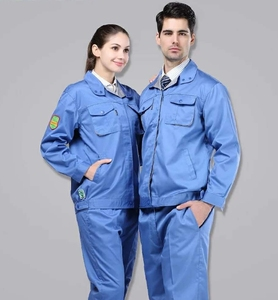 China fabric factory Plain Dyed Pattern and Twill Style cotton and polycotton fabric for workwear/uniform