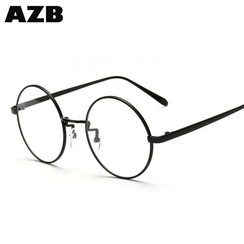 Azb estrenar lentes marcos grandes oversized Gafas de metal miopía ...