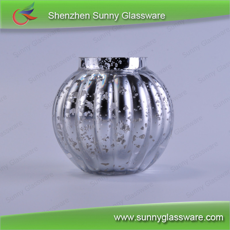 Hot popular silver mercury votive glass candle holders