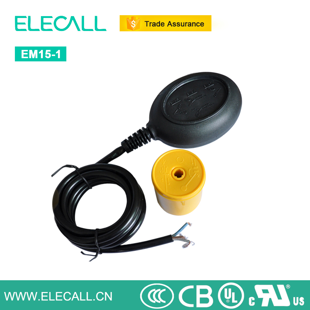 ELECALL EM15-1 Water Pump Float Ball Switch Water Level Controller