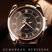 Moda Casual Mens Relógios de Luxo Da Marca Relógio de Quartzo Homens de Negócios de Couro de Alta Qualidade À Prova D' Água relógio de Pulso Relogio masculino