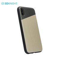 Alloy + tpu wood tough phone case for iphone x trendy mobile cases customize logo
