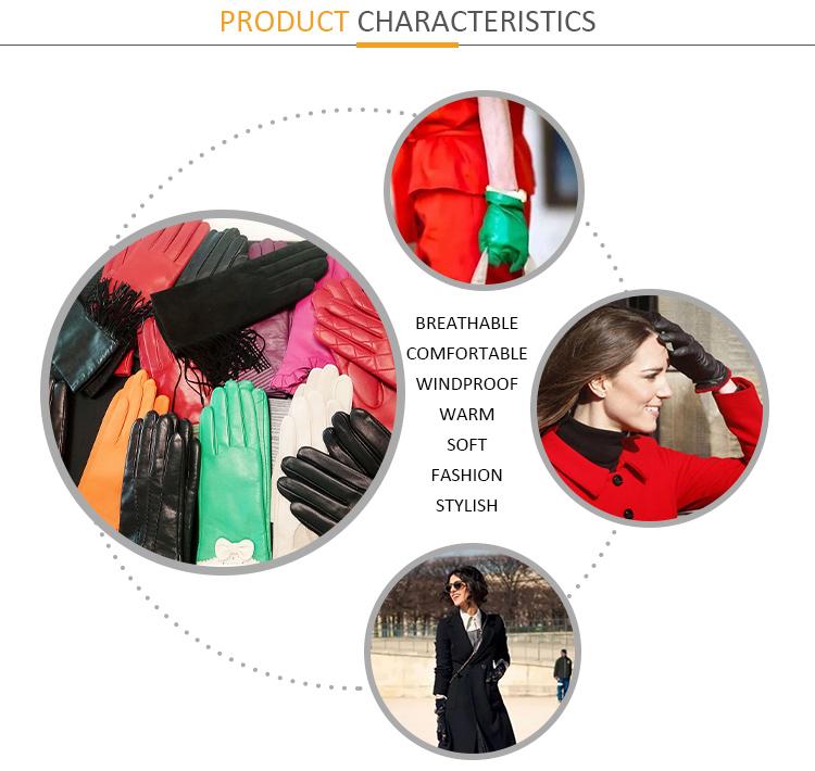 Mode herren Winter Hohe Qualität Touchscreen Leder Handschuhe