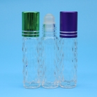 Cosmetic Moulded Perfume Roll On Glass Bottle Vial with Bottle Caps
