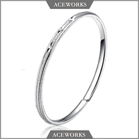 BG1012 Aceworks 925 sterling silver fashion solid Gypsophila bangles