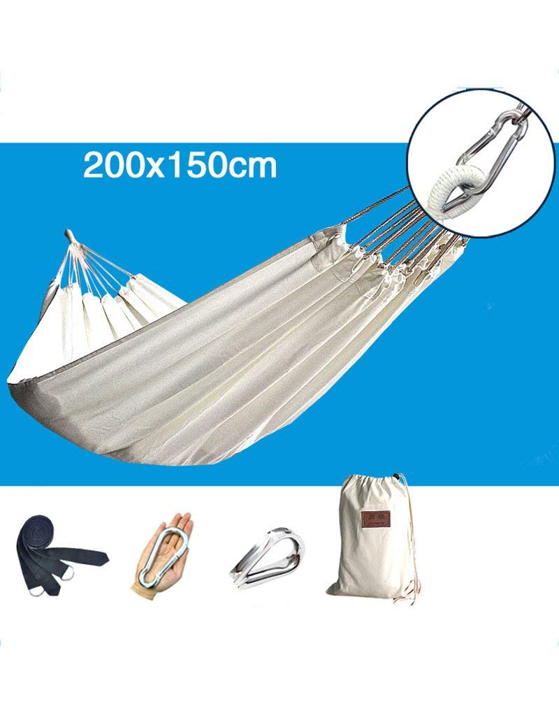 LPYMX Cotton canvas hammock, camping travel hammock, rollover hammock,