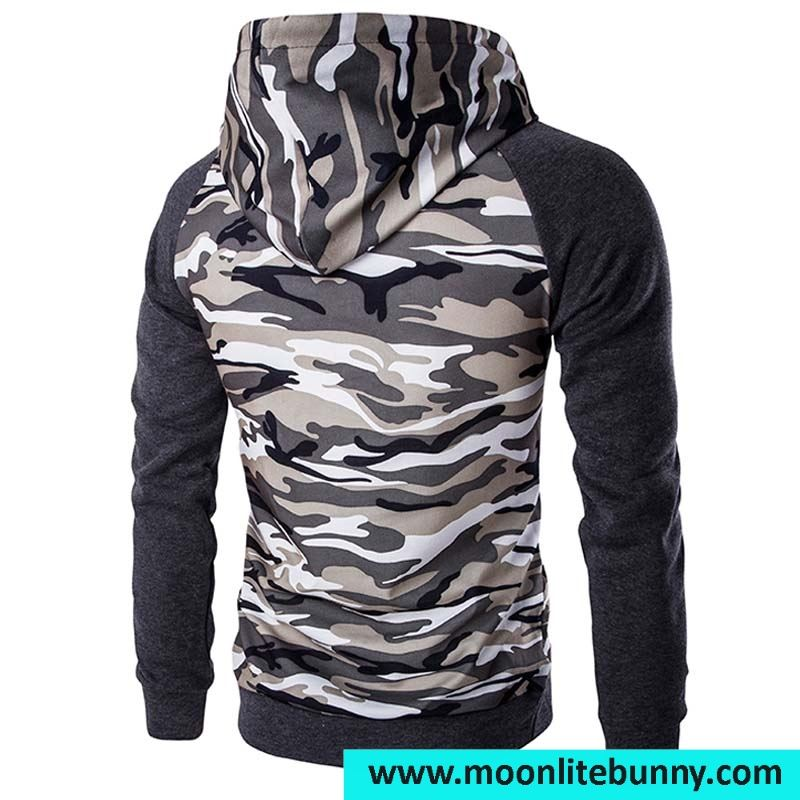 Mens Hooded Hooides 2016 Mens Fashion Camouflage Printing Pullover Sweatshirts Homme High Quality Asian Size XXL