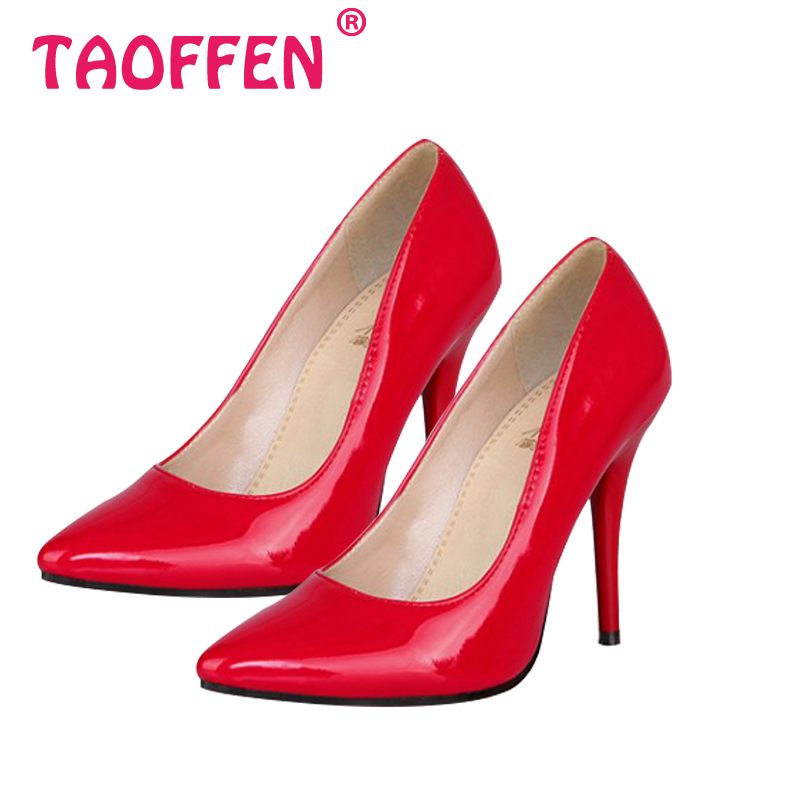 Size 32 44 Women Stiletto High Heel Shoes Pointed Toe Sexy Quality Brand Wedding Fashion Heeled