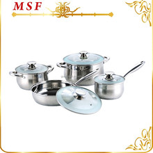 Prestige 8pcs stainless steel first horse cookware set