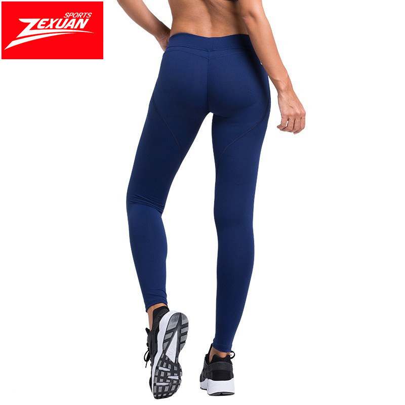 441697bc02961 Quality Plain Blank 3 Colors In Custom Logo Yoga Navy Blue Leggings ...