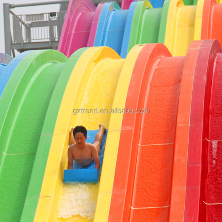 Fiberglass water park most popular plastic backyard water slide