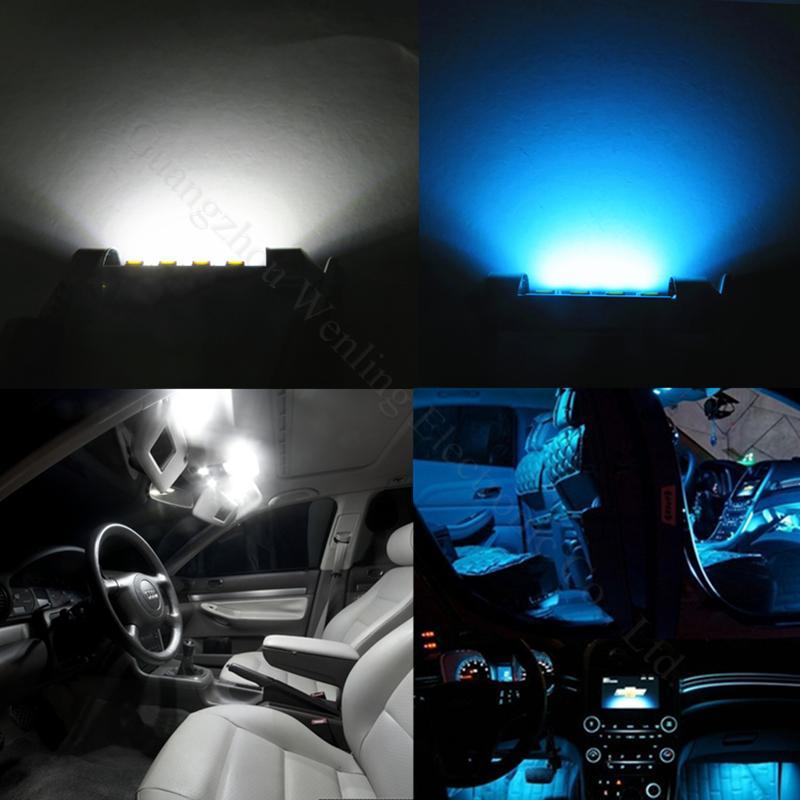 Festoon Car Interior Dome Map Door Reading Lamps Glove Box Reading Light Led 31mm De3175 36mm C5w 39mm 41mm 211 12v Auto Lights Blue Bulbs Blue Bulbs