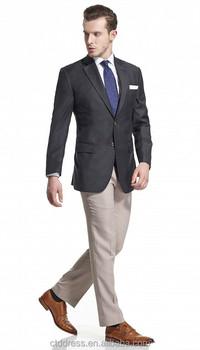 Custom Fitted Black Classic Fashion Men Suit Jacket Wholesale Buy