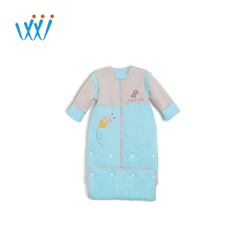 Hot sale cheap lovely embroidered baby sleeping bag cotton