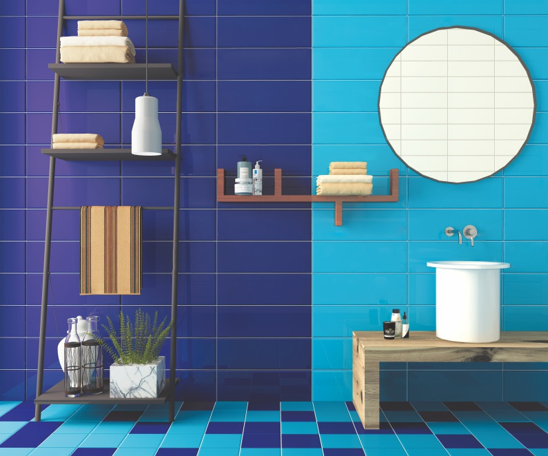 Metro tegel badkamer blauw kleur mm inch buy badkamer
