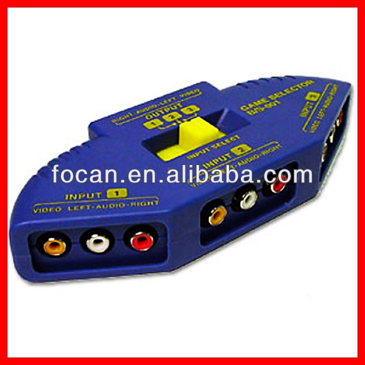 Best quality AV Game selector & RCA Jack Splitter & AV SWITCH