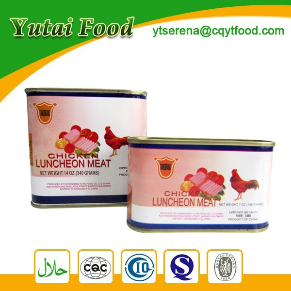 Types Chicken Products in Tin Factory