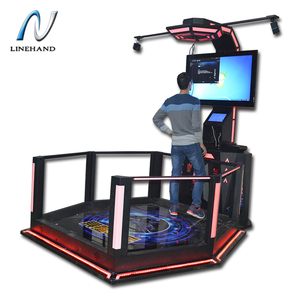 vr running games battle simulation arcade 9D treadmill running simulator equipment from Linehand