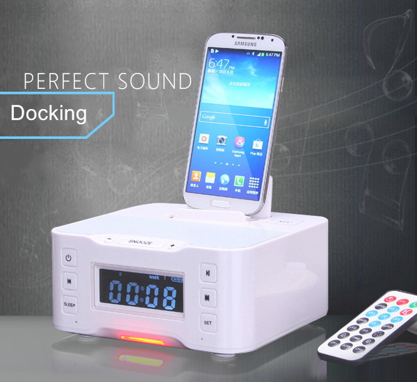 Remote Control Nfc Bluetooth Speaker Dock Ios Android Dual Alarm ...