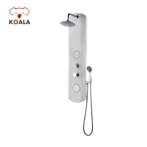China Design Bathroom 4 Funtion Massage Heat Water With Handset And Jet Cheap Resin Wall Mounted Acrylic Shower Panel