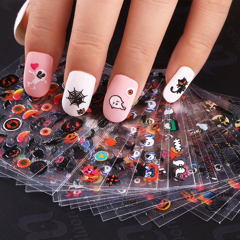 2018 New 24sheet set Halloween nail art decal sticker