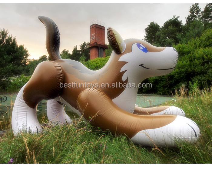 Giant Inflatable Animals Toys Timber Wolf Big Customized Inflatable Toys  Animals