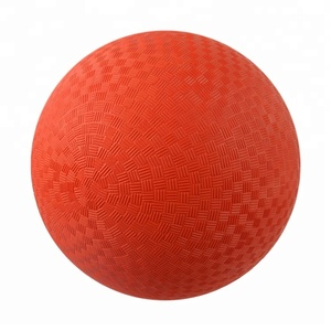 "8.5"" Inches Single Color Rubber Playground balls"