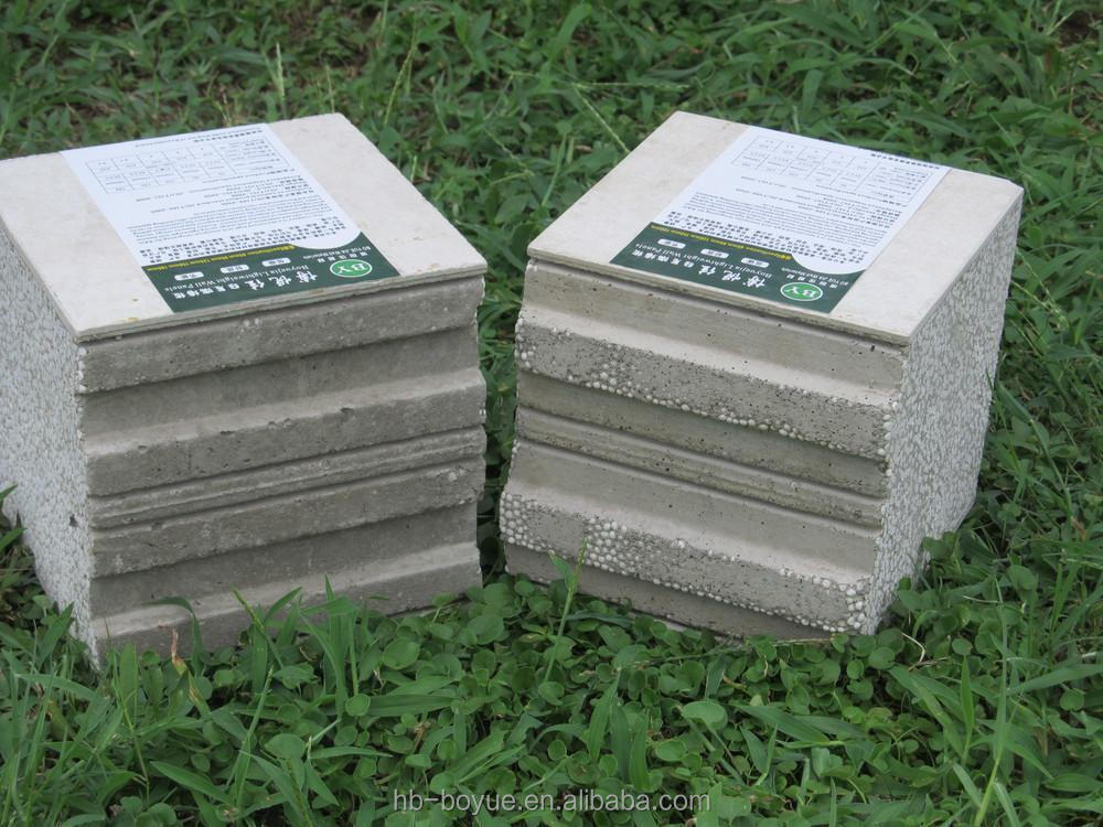 Sound insulation vinyl siding external wall board with for Cement foam blocks