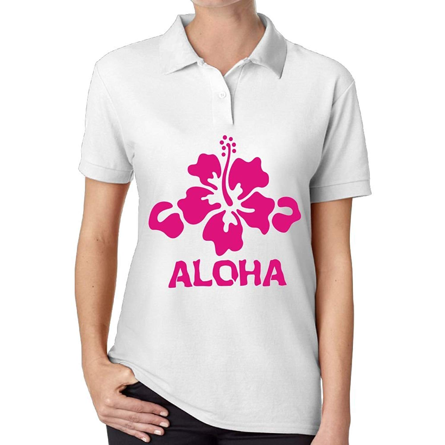 1b8528df Get Quotations · Mokjeiij Aloha Flower Hawaiian T-Shirt Men's Summer Womens  Short Sleeves Comfortable and Sturdy Shirt