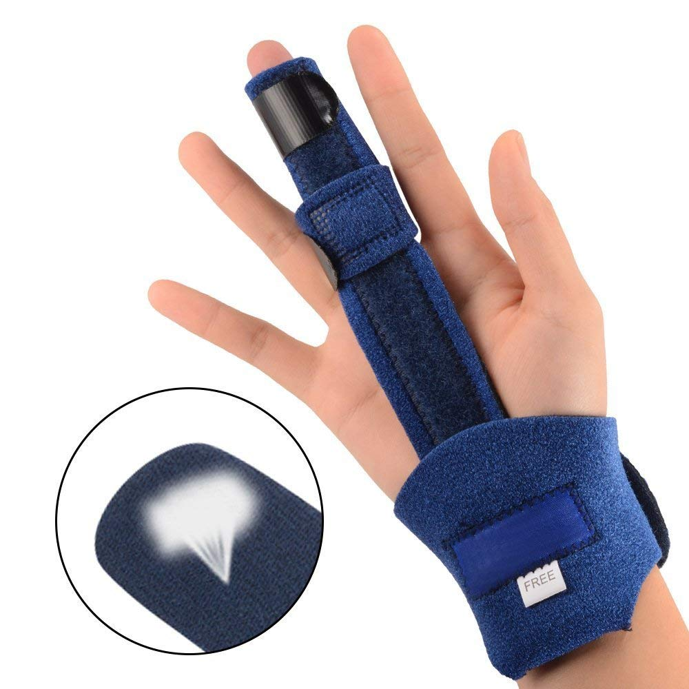 Zeerkeers Finger Splints finger,splints and bracesTrigger Finger Extension Splint Breathable Adjustable Splint for Finger Knuckle Immobilization, Finger Fractures Pain Relief