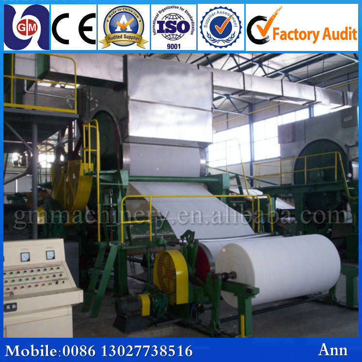Small scale GM-787mm 1TPD toilet tissue paper making machine, paper jumbo roll making mahcine, paper recycling machine