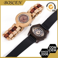 Portable Low Cost Glass Mineral Women Watches Leather