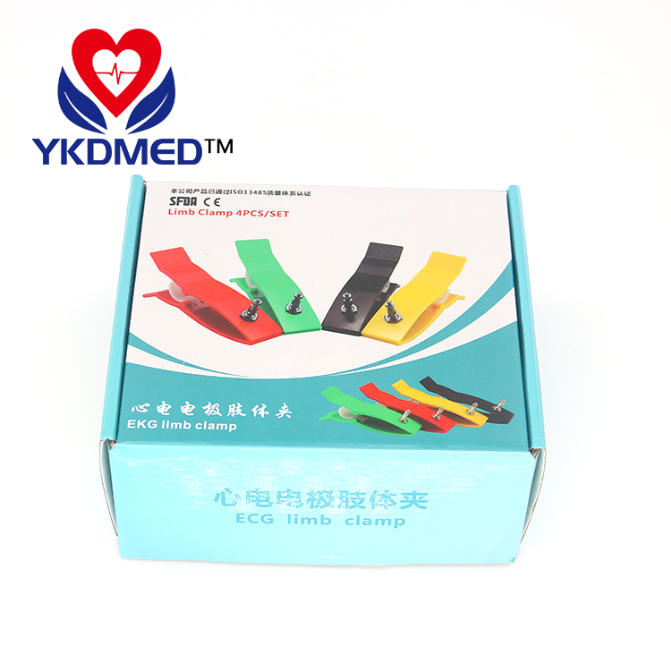 Multifunction IEC/AHA Adult Limb clamp ECG electrodes type for All resting ,Ag/Agcl material