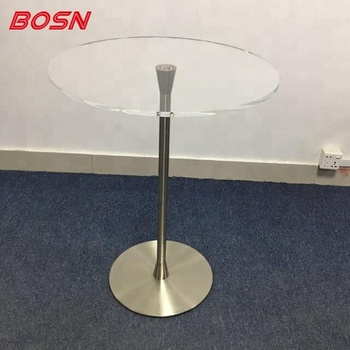 Church Furniture Acrylic Table with metal stand and base
