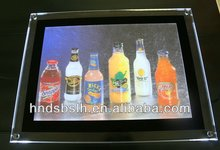 Acrylic advertising led menu display light box