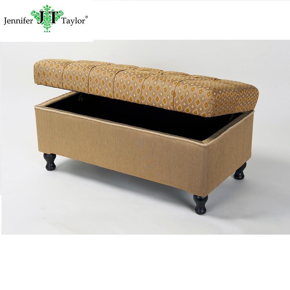 Clásicos Diseños De Muebles Tapizados Tufted Bisagras Almacenamiento ...