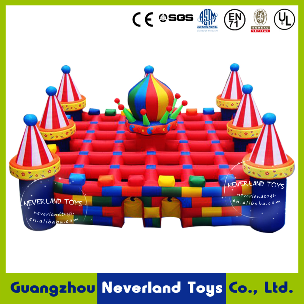 new design large inflatable castle maze,inflatable laser tag arena for adult and children