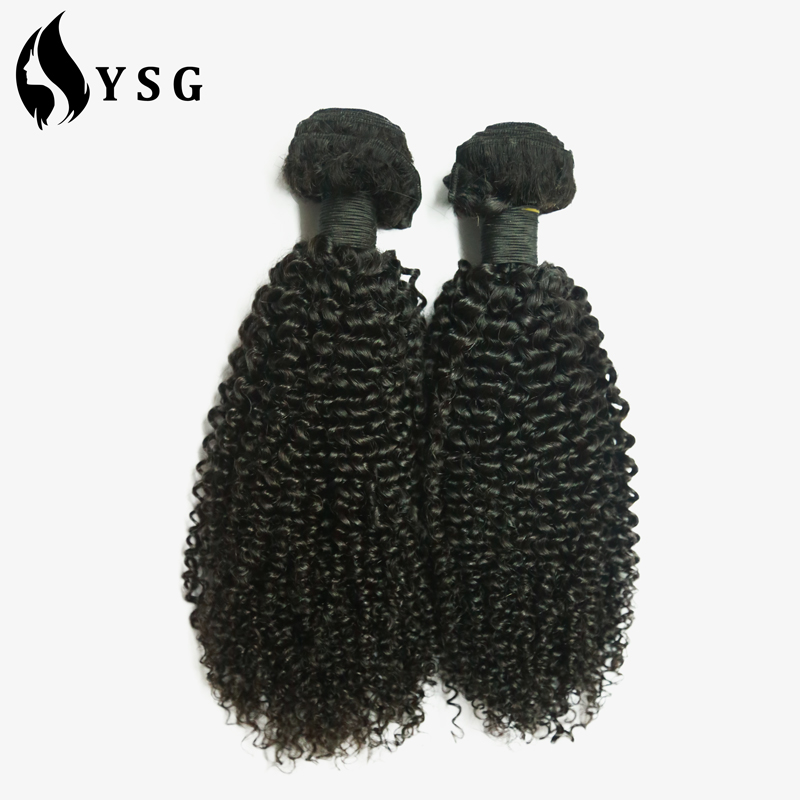 Factory Wholesale Brazilian virgin curly human hair weft Peruvian remy cabelo hair extension sew in weave blond color for beauty