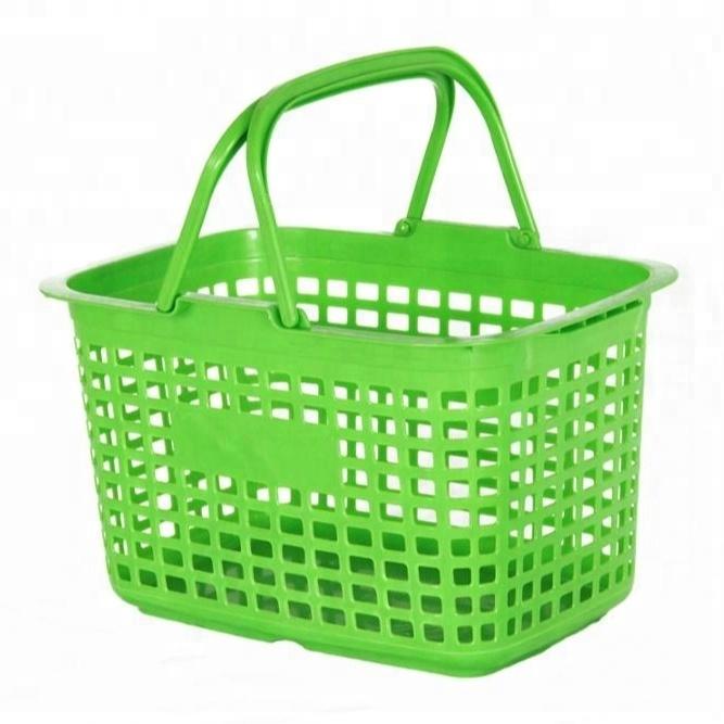 Light Duty Baby Clothing Storage Basket Rectangular Plastic Ping For