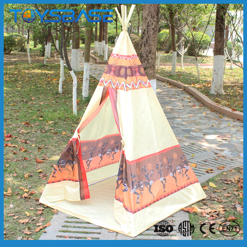 Kids Baby Teepee Play Tent Children Indoor Playhouse Pop Up Wigwam Tent