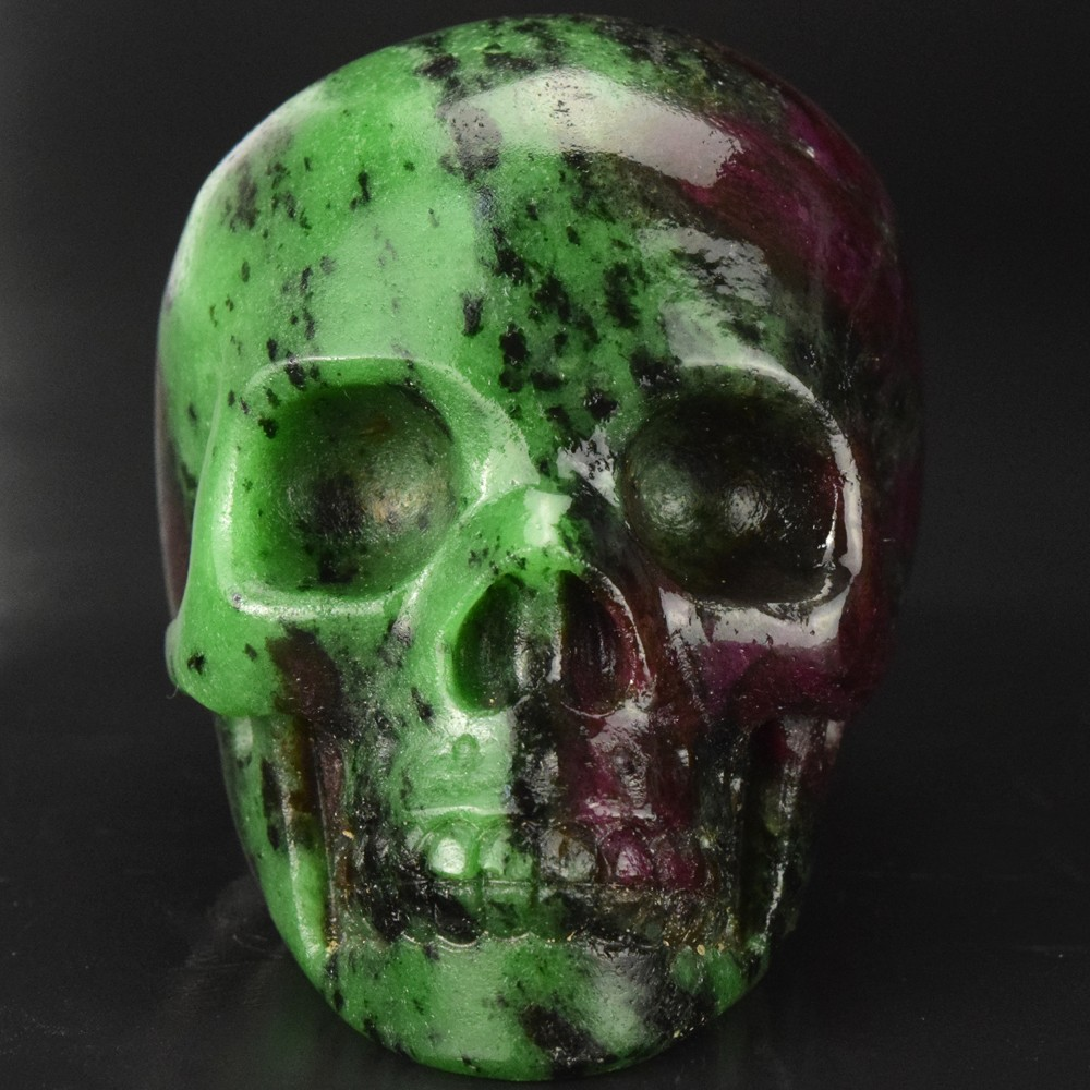 New Arrive Ruby Zoisite Skull Hand Carved Crystal Stone Halloween Skulls For Decor