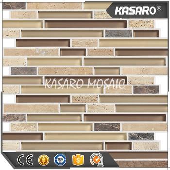 Strisce Giallo Marmo E Piastrelle A Mosaico In Vetro Mattonelle Di Mosaico Di  Vetro Di Pietra