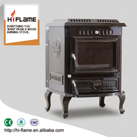 HiFlame HF443BE Indoor Enamel Cast Iron Wood Burning Stove and Fireplace