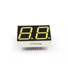 0.8 pollici 2 cifre <span class=keywords><strong>7</strong></span>-segment display a <span class=keywords><strong>led</strong></span> di Colore Bianco LBT8201AW Catodo Anodo Comune a sette segmenti display digitale