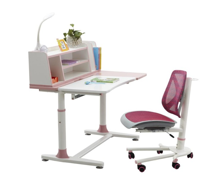 hot sales affordable desk and chair set for children with book case