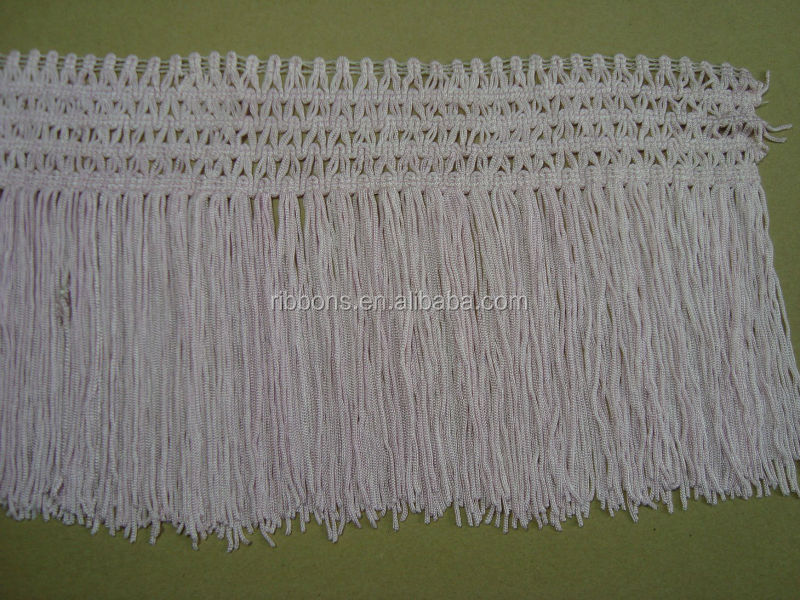 Lace Trimming Rayon Crochet Fringe Trim Beige Color Fabric Base ...