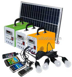 Hot selling 10W 20W 30W mini solar power lighting system / portable DC solar kits for home