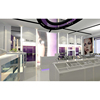 Cosmetic shop layout skincare product display cabinet showcase