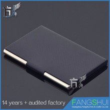 Aluminum business card case card holder