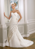 2014 newest elegant best price chiffon bridal gown #OW236